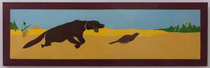 'La caza in situ' (1976), de Beatriz González, expuesta en el museo de la Academia de Bellas Artes.