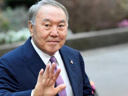 Nursultán Nazarbáyev, en Bruselas el pasado octubre.