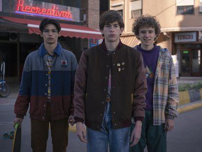 Cristian López, Pau Gimeno y Leon Martínez (de izquierda a derecha), tres de los protagonistas de 'Paraíso'.