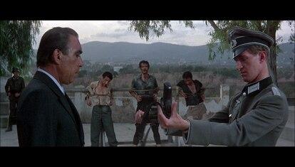 La escena de Conchis y los nazis en el filme 'El Mago'.