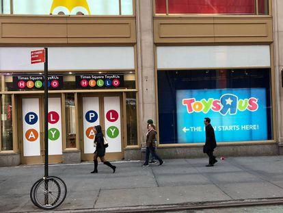 La tienda de Toys 'R' Us en Times Square, en Nueva York