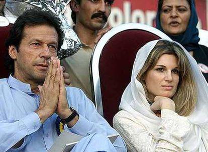 Imran Khan, con su ex esposa Jemima Goldsmith.