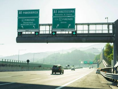Autopista A1 Milán-Nápoles de Autostrade per l'Italia.
