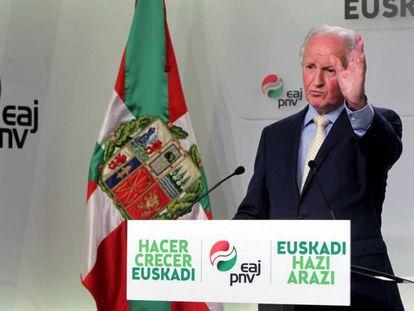 Juan María Atutxa comparece tras la resolución del Tribunal Europeo.