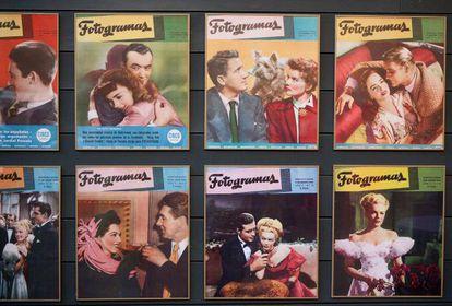 Algunas de las portadas expuestas de 'Fotogramas'.