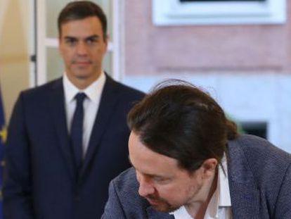 Este es el documento que han suscrito el presidente del Gobierno y el líder de Podemos