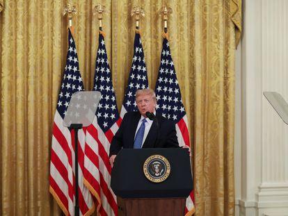 El expresidente de Estados Unidos, Donald Trump, durante una conferencia de prensa, el 22 de julio de 2020.