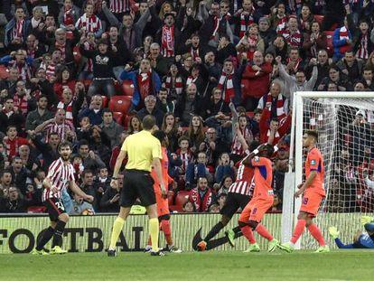 Lekue celebra su gol al Granada.