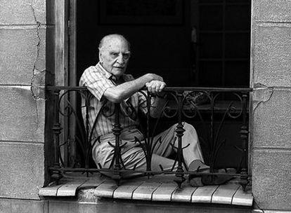 El escritor Francisco Ayala, retratado en 1992 en Madrid.