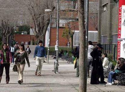 Alumnos en el campus de la Universidad de Sevilla.