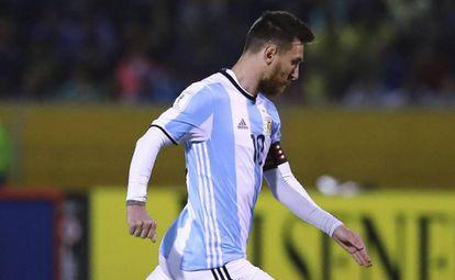 Messi, con Argentina.