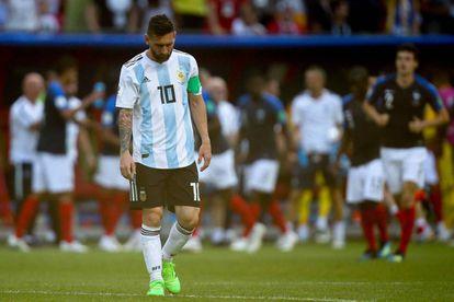 Leo Messi, al término del Francia-Argentina.