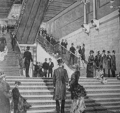 Grabado de 1884 de la revista <i>La ilustración española</i>.