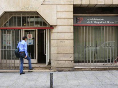 Oficina de la Seguridad Social en el centro de Madrid.