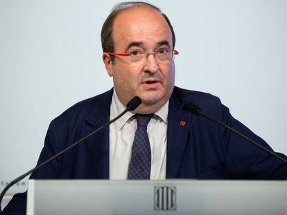 Miquel Iceta, el pasado viernes en el Parlament.