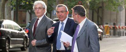 Roberto López Abad, exdirector de la CAM, a su llegada a la Audiencia Nacional en julio pasado.