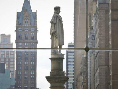 La estatua dedicada a Colón en Nueva York