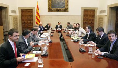 Reunión sobre el pacto fiscal celebrada el pasado día 12.