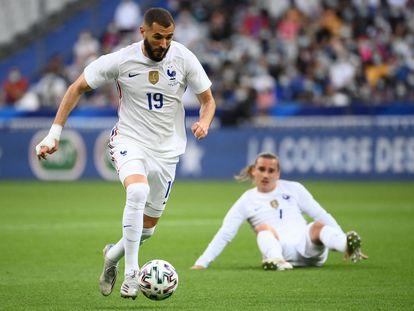 Karim Benzema, durante un Francia-Bulgaria del pasado martes.