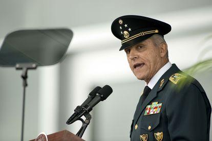 Salvador Cienfuegos, en un acto en el Colegio Militar, en septiembre de 2013.