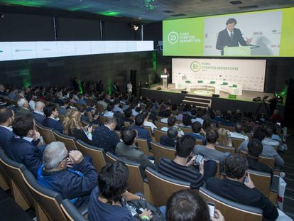 José Ramón Lete, en la inauguración del foro de eventos ED17 en la sede del COE.