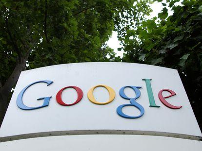 Logo de Google en la sede de Mountan View, San Francisco