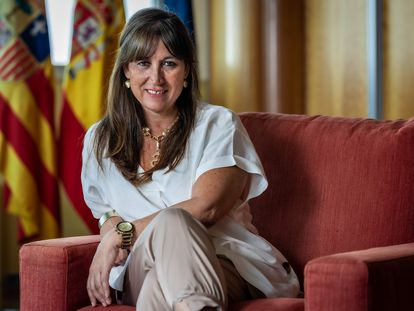 Sira Repollés, consejera de Sanidad del Gobierno de Aragón.