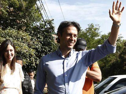 El candidato a la alcaldía de Medellín Daniel Quintero, este domingo.