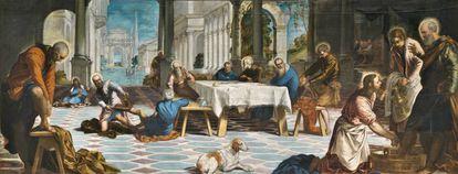 'El Lavatorio' (1547), de Tintoretto.
