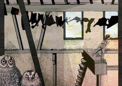 Ilustración de Pere Ginard para 'La tierra de los colores vivos', de Oti Rodríguez Marchante