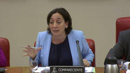Carmen Rodríguez-Medel, durante una comparecencia en el Congreso en 2017.