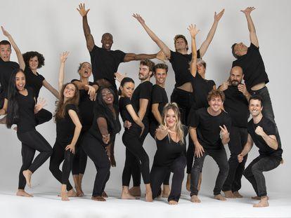 """El elenco de """"Fama"""", el musical dirigido por Coco Comín."""