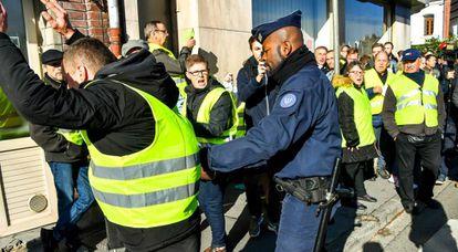 Una protesta de 'chalecos amarillos' en 9 de noviembre en el norte de Francia
