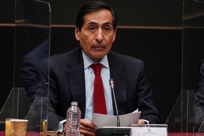 El secretario de Hacienda de México, Rogelio Ramírez de la O, en la antigua sede del Senado el 27 de agosto.