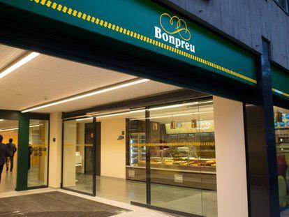 Un supermercado de Bon Preu en el barrio de Les Corts de Barcelona.