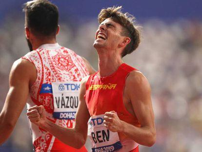 Adrián Ben tras las series de los 800m.