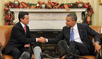 Obama y Peña Nieto en la Casa Blanca el pasado noviembre.