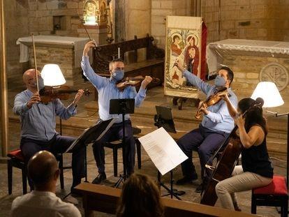 Concierto celebrado en Foz por el Cuarteto Quiroga el pasado jueves.