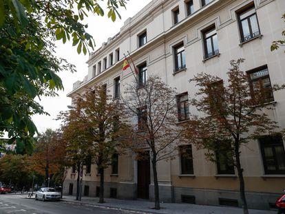 Facha del Tribunal Superior de Justicia en Madrid.