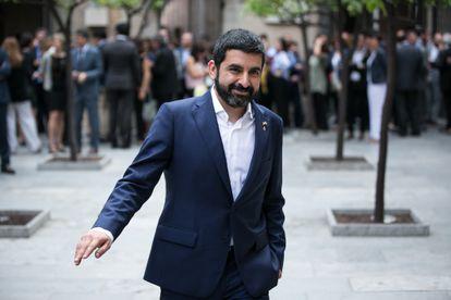 El consejero Chakir El Homrani, el pasado mes de junio en la Generalitat.