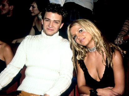 Justin Timberlake y Britney Spears en el año 2000, en los MTV Video Music Awards celebrados en New York City