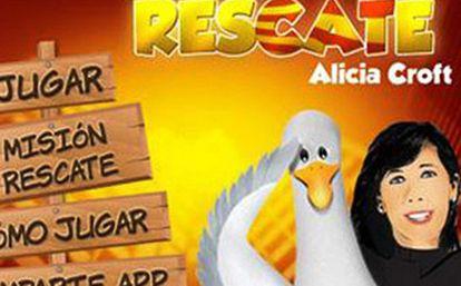 Imagen del juego interactivo en http://ppcatalunya.com/rescate/