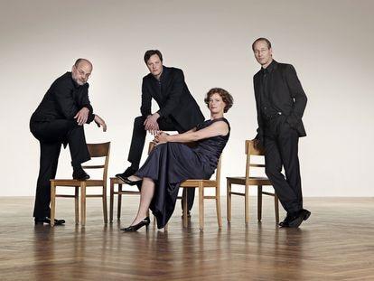 Cuarteto Mandelring, que protagoniza uno de sus conciertos.