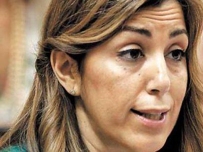 Susana Díaz, el miércoles en el Parlamento andaluz.