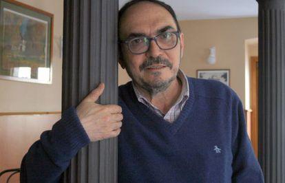 Rodolfo Serrano en un momento de la entrevista.