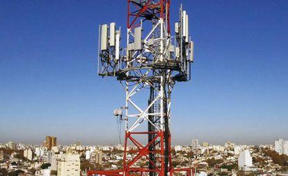 Antenas de telefonía móvil de Telefónica.