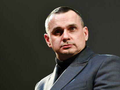 El director ucranio Oleg Senzow, el pasado 18 de febrero en Berlín.