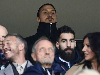 Ibrahimovic, durante el partido de vuelta de la repesca mundialista entre Italia y Suecia.