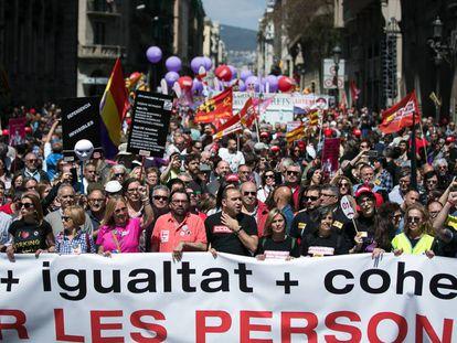 Manifestación del Día Internacional del Trabajador, el pasado 1 de mayo en Barcelona.