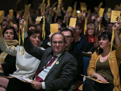 Quim Torra, durante una de las votaciones.